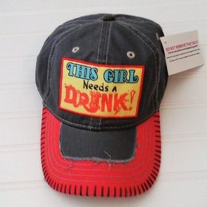 """Accessories - This Girl Needs A Drink Hat! """"NWT"""""""
